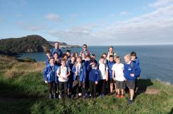 Colmbe Mertine school on coast path