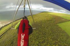 Handgliding above Saunton Down