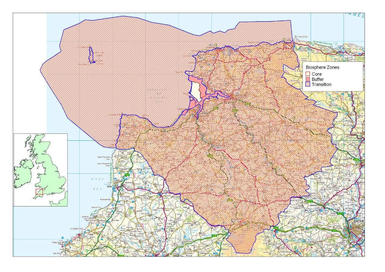 North Devon Biosphere Map