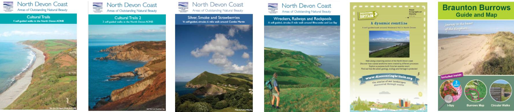 Covers of walk booklets